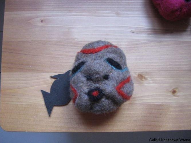 Filt demon, ca.8cm cm, 100 DKK, 2009
