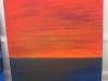 40x40 cm, Sky on fire (unoficial title), 1600 DKK, 2009